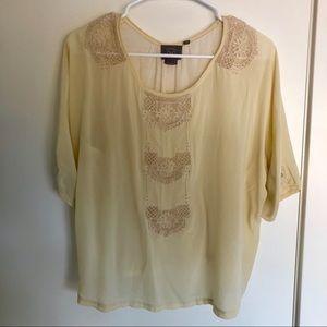 Anthropologie Vanessa Virginia cream lace blouse